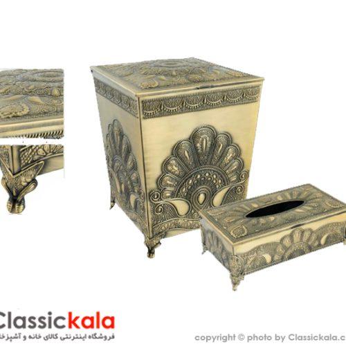 سطل و دستمال طاووسی آنتیک کد ۳۵۱۰