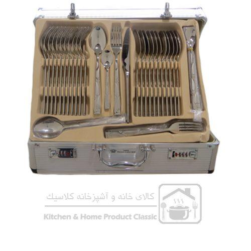 سرویس قاشق و چنگال ۱۶۱ پارچه اس جی مدل بارسلونا