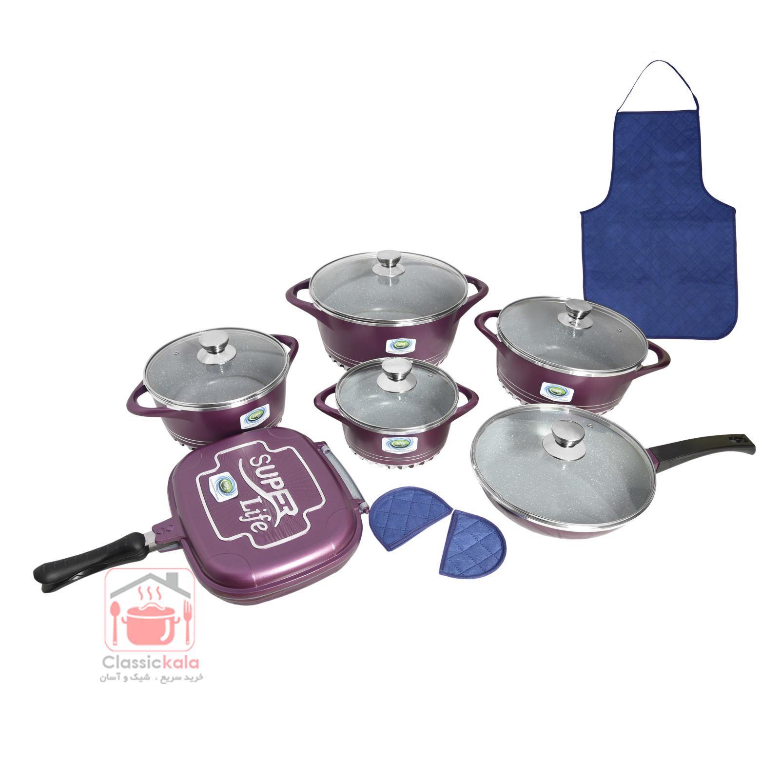 سرویس پخت و پز ۱۵ پارچه سوپرلایف مدل رینگی